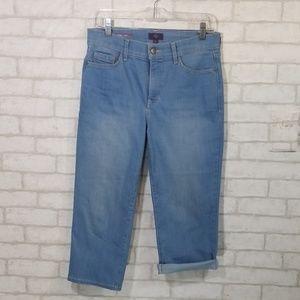 NYDJ ariel crop Jean pants size 8